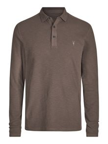 AllSaints Clash Long Sleeve Polo Shirt