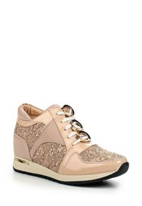 Lost Ink Tandy panelled eyelet lace lo-tops