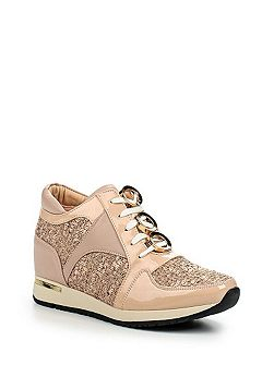 Tandy panelled eyelet lace lo-tops