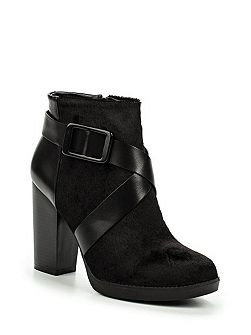 Aries faux pony ankle boots