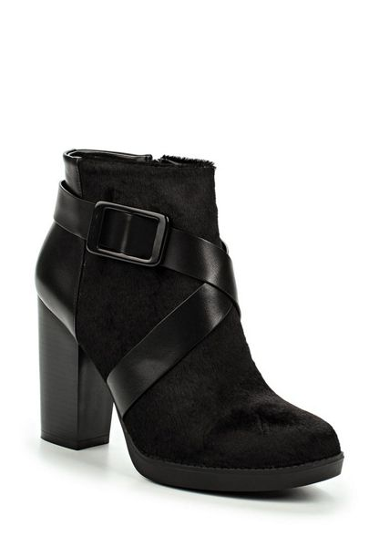 Lost Ink Aries faux pony ankle boots