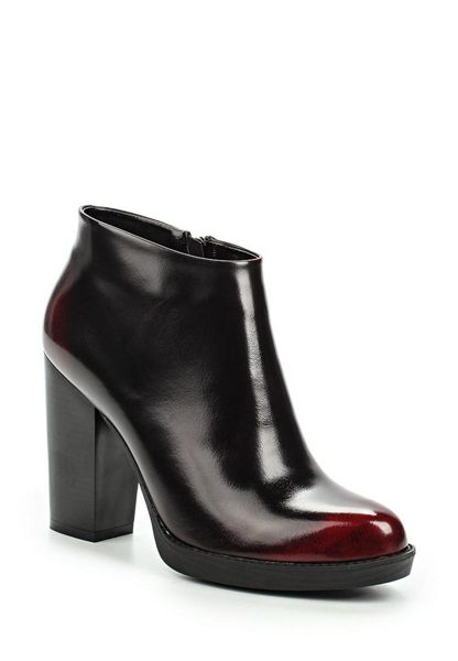 Lost Ink Ardon block heel ankle boots