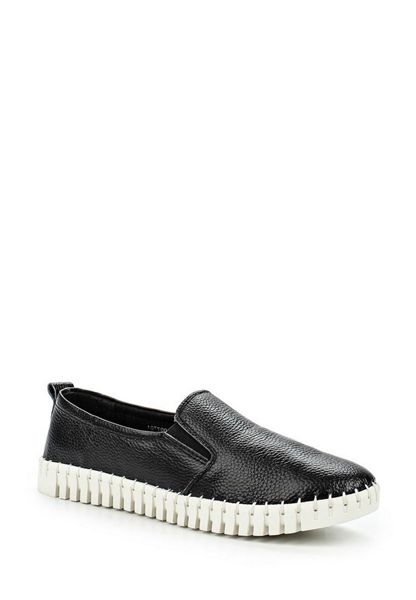 Lost Ink Ely leather twin gusset flexi slip ons