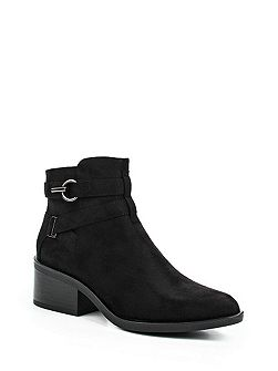 Abigail buckle strap point ankle boots