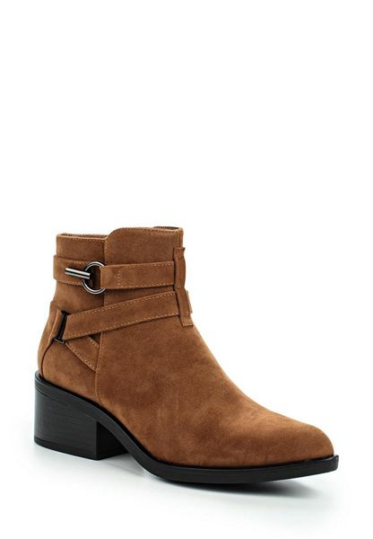 Lost Ink Abigail buckle strap point ankle boots