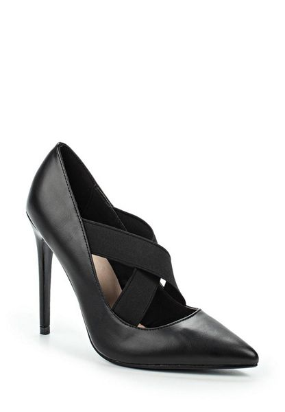 Lost Ink Delphine elastic cross strap court shoes