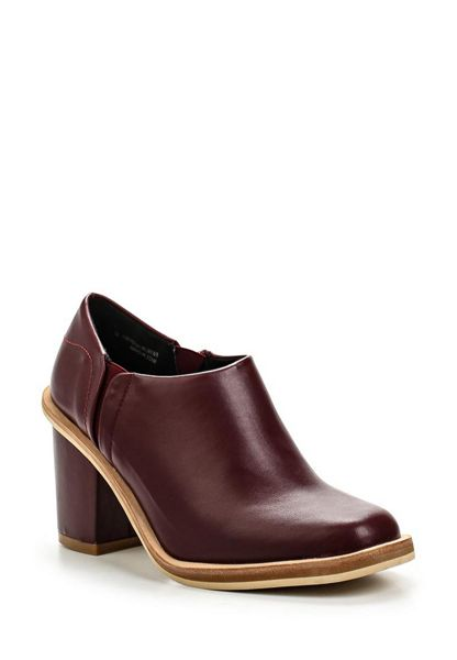 Lost Ink Low cut mid heel ankle boots