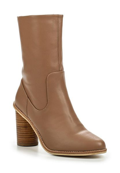 Lost Ink Gorzo round heel mid-height boots