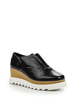 Jorge wood flatform derby shoes