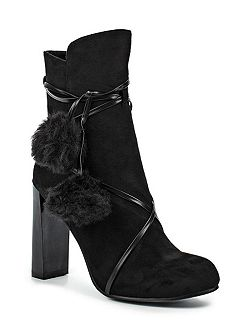 Alice faux fur pom pom ankle boots