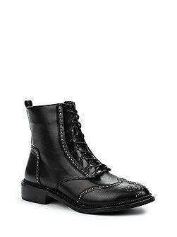 August pin stud brogued ankle boots