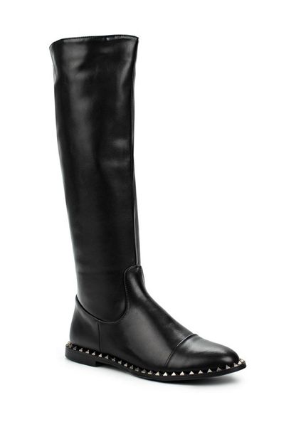 Lost Ink Gamer stud rand knee high boots