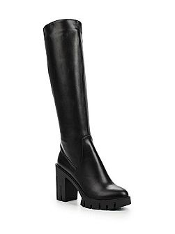 Gwen stretch pu cleated knee high boots