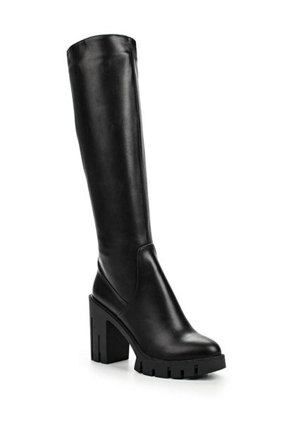 Lost Ink Gwen stretch pu cleated knee high boots