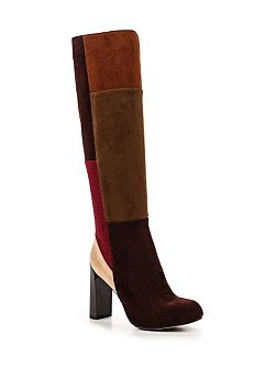 Gypsy patchwork knee-high boots