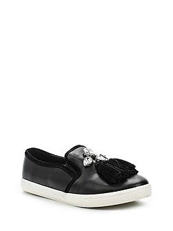 Emmy gem & tassle skate shoes