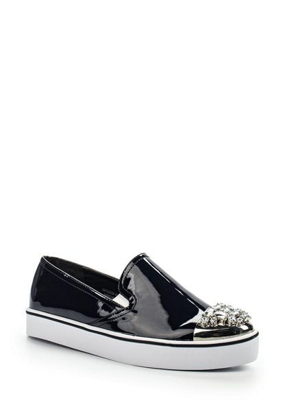 Lost Ink Miklie jewel toe plimsolls