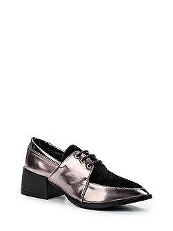 Jive panel blocked point lace up shoes