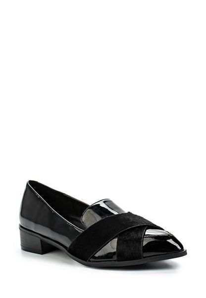 Lost Ink Joy cross strap loafers