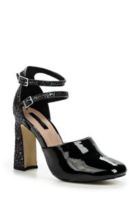 Lost Ink Dancer double strap block heeled shoes