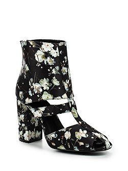 Denny floral block heel ankle boots
