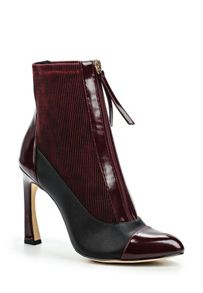 Lost Ink Avis zip front stiletto ankle boots