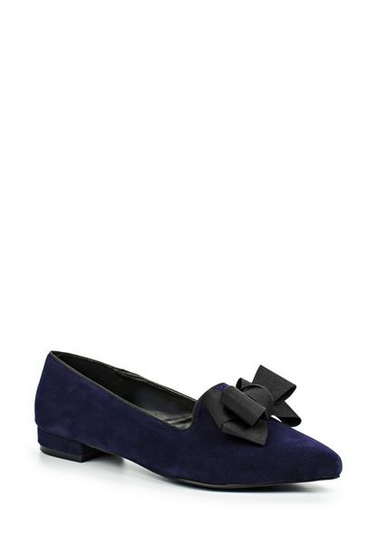 Lost Ink Jeanette bow point ballerina shoes
