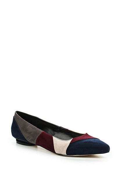 Lost Ink Jasey patchwork ballerina shoes