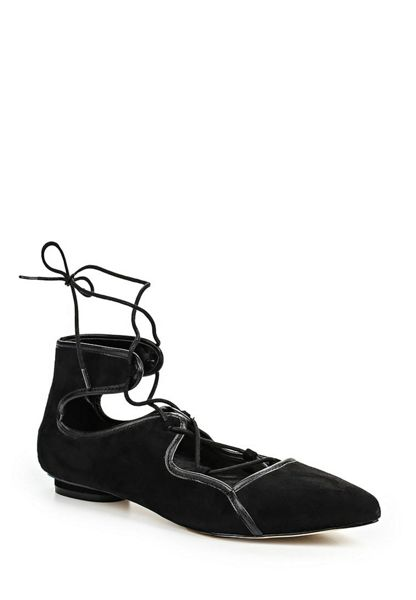 Lost Ink Jemima ankle strap ballerina shoes