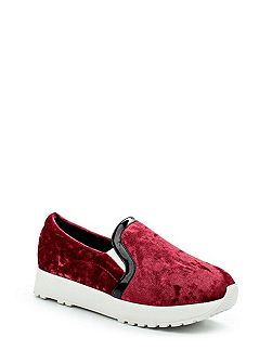 Etoile velvet twin gusset slip on shoes