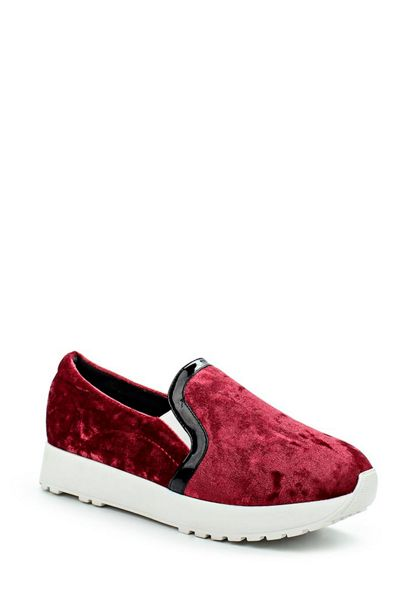 Lost Ink Etoile velvet twin gusset slip on shoes