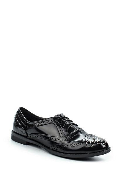 Lost Ink Janice brogue detail oxford shoes