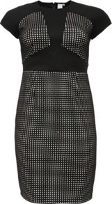 Lost Ink Curve Panelled Bodycon Dress