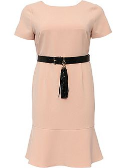 Curve Pephem Dress With Belt