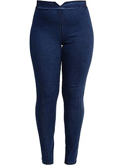 Curve Jegging With Elastic Back