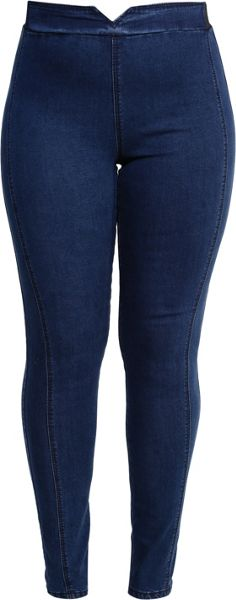 Lost Ink Curve Jegging With Elastic Back