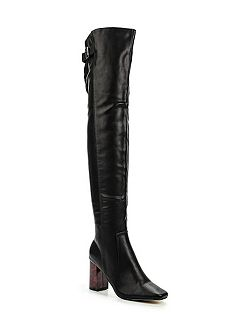 Gable tortoise heel over the knee boots