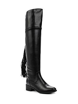 Galya tassel back over the knee boots
