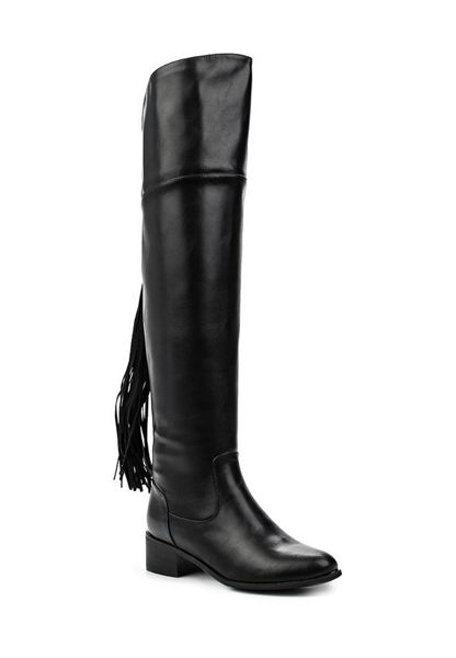Lost Ink Galya tassel back over the knee boots