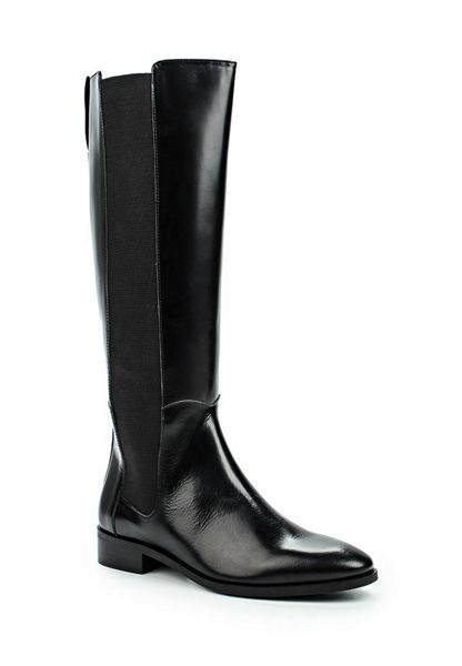 Lost Ink Gusset leather knee boots