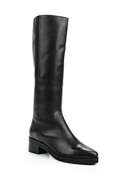 Lost Ink Glow leather point knee boots