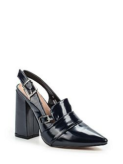 Donnie sling back block heeled shoes