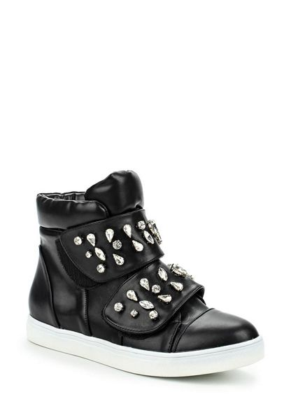 Lost Ink Tint jewelled strap hi tops