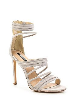 Rally padded strap heeled sandals