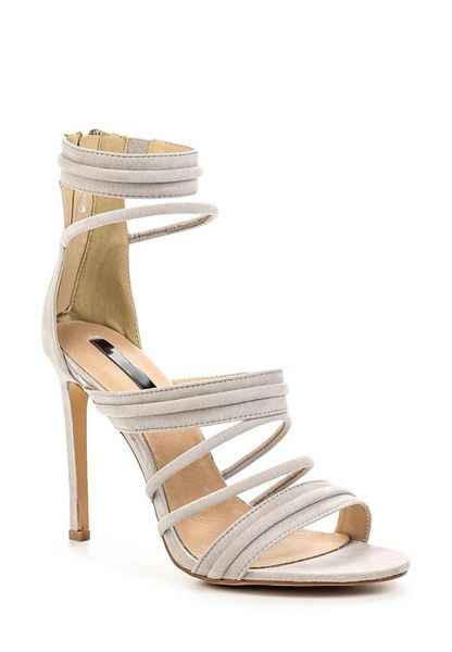Lost Ink Rally padded strap heeled sandals