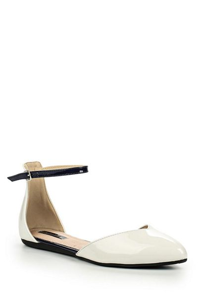 Lost Ink Bump ankle strap 2 part ballerinas