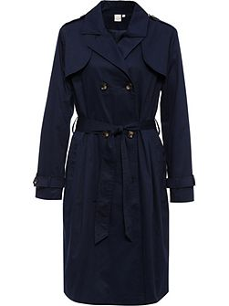 Curve Pleat Back Mac With Horn Buttons