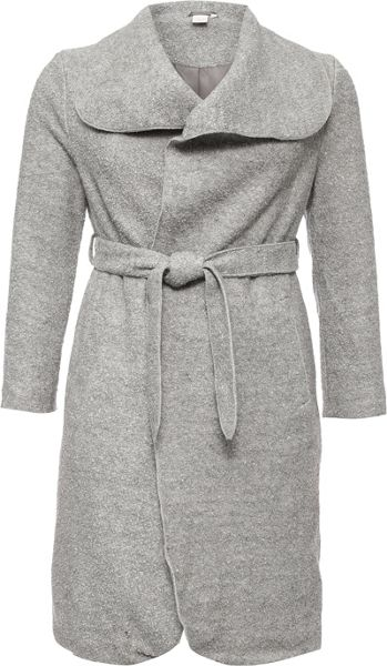 Lost Ink Curve Textured Wool Coat