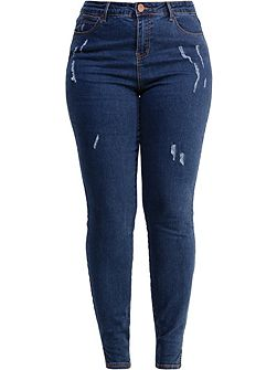 Curve Skinny Jean With Distressing