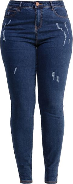 Lost Ink Curve Skinny Jean With Distressing